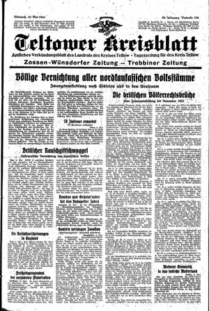 Teltower Kreisblatt vom 10.05.1944