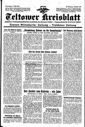 Teltower Kreisblatt vom 11.05.1944