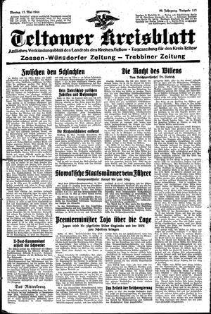 Teltower Kreisblatt on May 15, 1944