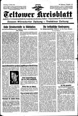 Teltower Kreisblatt vom 16.05.1944