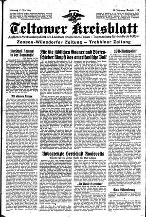 Teltower Kreisblatt vom 17.05.1944