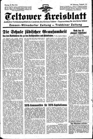 Teltower Kreisblatt vom 22.05.1944