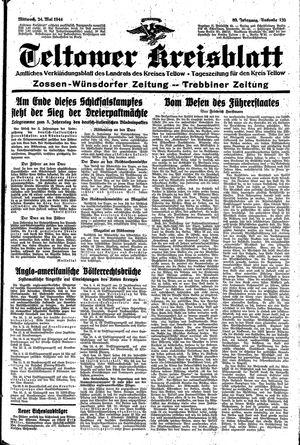 Teltower Kreisblatt vom 24.05.1944