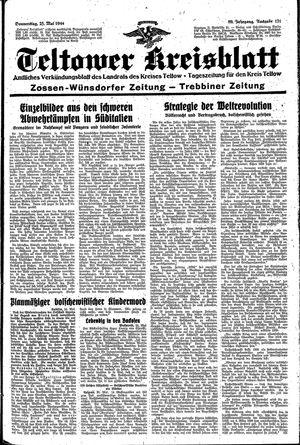 Teltower Kreisblatt vom 25.05.1944