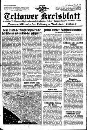 Teltower Kreisblatt on May 26, 1944