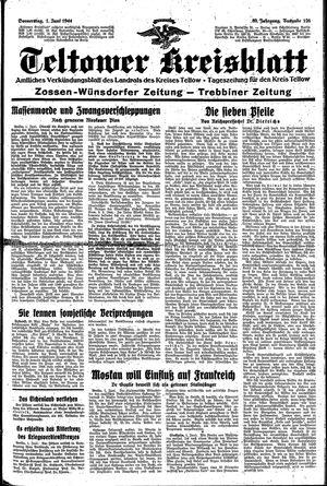 Teltower Kreisblatt vom 01.06.1944