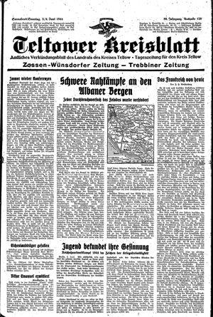 Teltower Kreisblatt vom 03.06.1944
