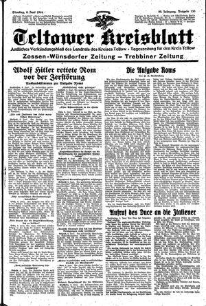 Teltower Kreisblatt vom 06.06.1944