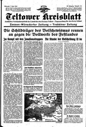 Teltower Kreisblatt vom 07.06.1944