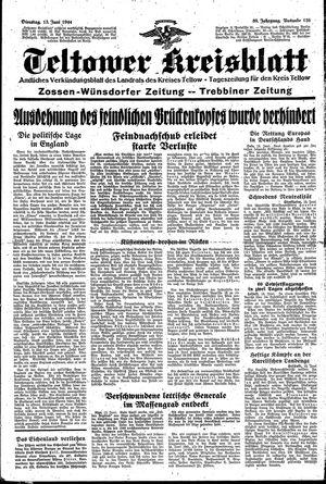 Teltower Kreisblatt on Jun 13, 1944