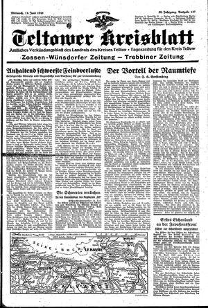 Teltower Kreisblatt vom 14.06.1944