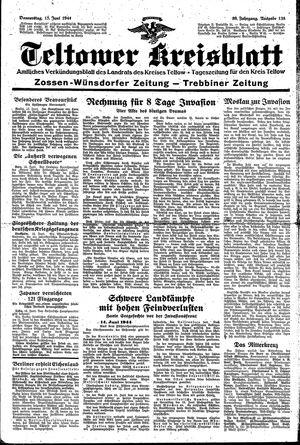 Teltower Kreisblatt vom 15.06.1944