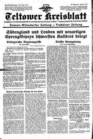 Teltower Kreisblatt vom 17.06.1944