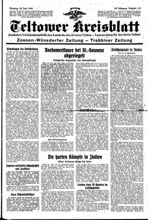Teltower Kreisblatt vom 20.06.1944
