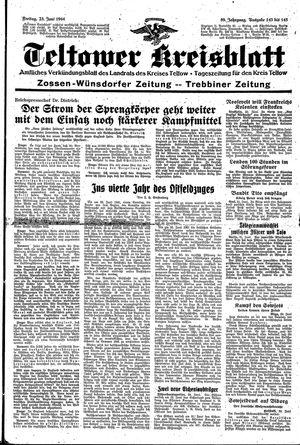 Teltower Kreisblatt vom 23.06.1944
