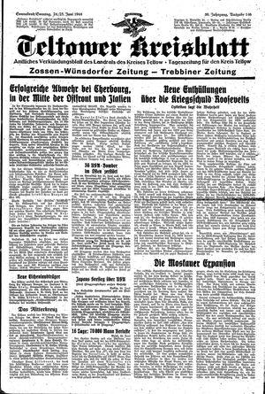 Teltower Kreisblatt vom 24.06.1944
