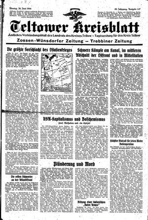 Teltower Kreisblatt vom 26.06.1944