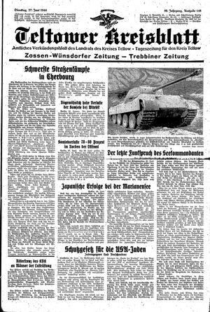 Teltower Kreisblatt on Jun 27, 1944