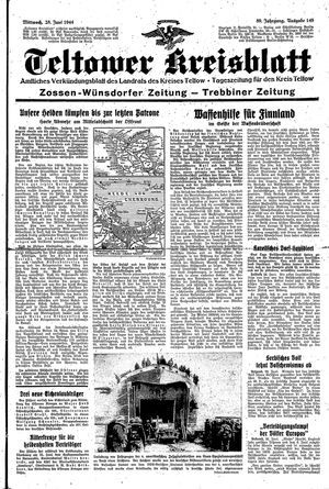 Teltower Kreisblatt vom 28.06.1944