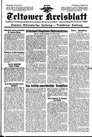 Teltower Kreisblatt vom 29.06.1944