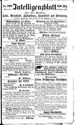 Intelligenzblatt für die Städte Oels, Bernstadt, Juliusburg, Hundsfeld und Festenberg (23.09.1856)