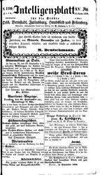 Intelligenzblatt für die Städte Oels, Bernstadt, Juliusburg, Hundsfeld und Festenberg (23.09.1858)