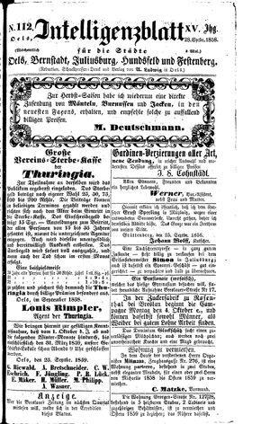 Intelligenzblatt für die Städte Oels, Bernstadt, Juliusburg, Hundsfeld und Festenberg on Sep 28, 1858