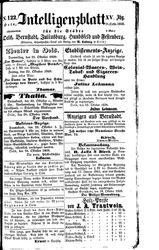 Intelligenzblatt für die Städte Oels, Bernstadt, Juliusburg, Hundsfeld und Festenberg (21.10.1858)