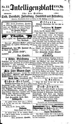 Intelligenzblatt für die Städte Oels, Bernstadt, Juliusburg, Hundsfeld und Festenberg vom 25.01.1859