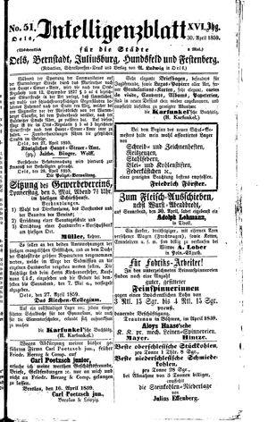 Intelligenzblatt für die Städte Oels, Bernstadt, Juliusburg, Hundsfeld und Festenberg vom 30.04.1859