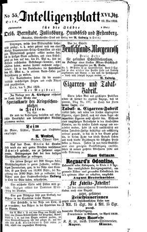 Intelligenzblatt für die Städte Oels, Bernstadt, Juliusburg, Hundsfeld und Festenberg vom 10.05.1859