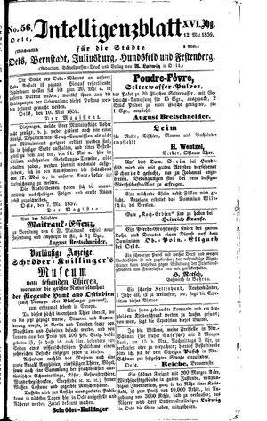 Intelligenzblatt für die Städte Oels, Bernstadt, Juliusburg, Hundsfeld und Festenberg vom 12.05.1859