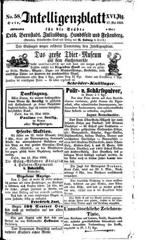 Intelligenzblatt für die Städte Oels, Bernstadt, Juliusburg, Hundsfeld und Festenberg vom 17.05.1859