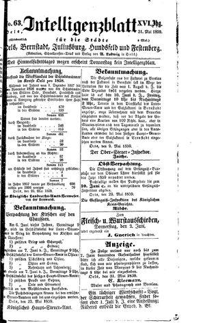 Intelligenzblatt für die Städte Oels, Bernstadt, Juliusburg, Hundsfeld und Festenberg vom 31.05.1859