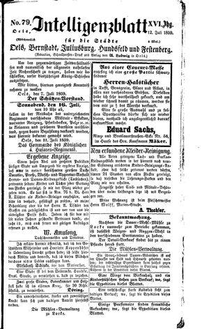 Intelligenzblatt für die Städte Oels, Bernstadt, Juliusburg, Hundsfeld und Festenberg vom 12.07.1859