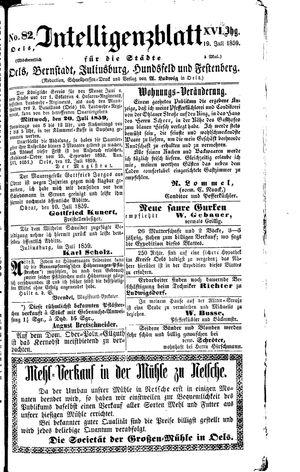Intelligenzblatt für die Städte Oels, Bernstadt, Juliusburg, Hundsfeld und Festenberg vom 19.07.1859