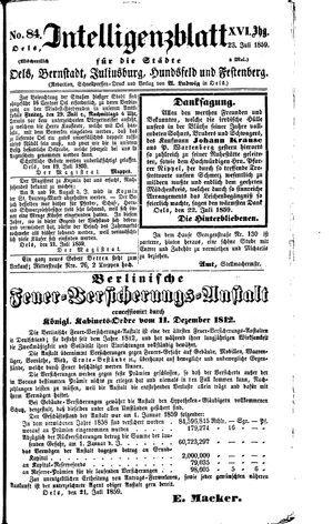 Intelligenzblatt für die Städte Oels, Bernstadt, Juliusburg, Hundsfeld und Festenberg on Jul 23, 1859