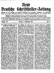 Deutsche Schriftsteller-Zeitung