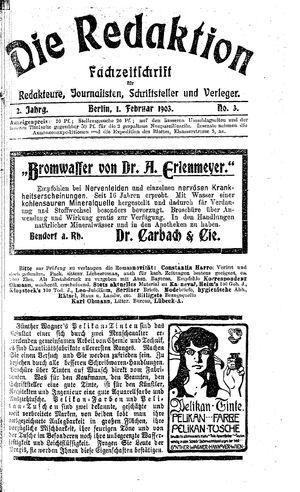 ˜Dieœ Redaktion vom 01.02.1903