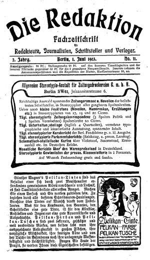 ˜Dieœ Redaktion on Jun 1, 1903