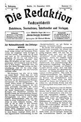 Die Redaktion (18.12.1904)