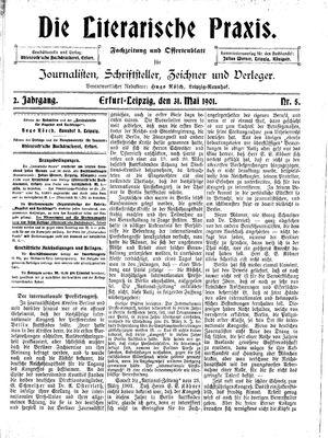 ˜Dieœ literarische Praxis vom 31.05.1901