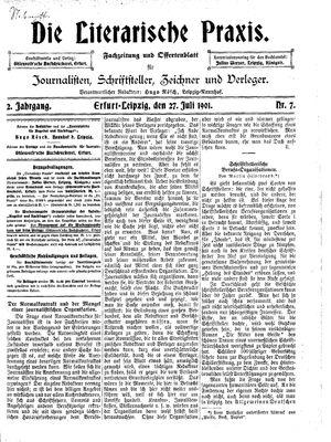˜Dieœ literarische Praxis vom 27.07.1901