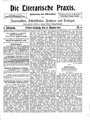 ˜Dieœ literarische Praxis vom 31.08.1901