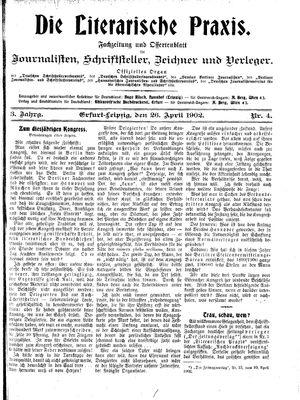 ˜Dieœ literarische Praxis vom 26.04.1902