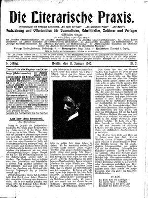 ˜Dieœ literarische Praxis vom 11.01.1905