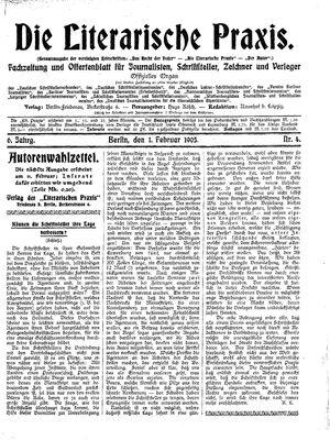 ˜Dieœ literarische Praxis vom 01.02.1905