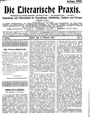 ˜Dieœ literarische Praxis vom 11.02.1905