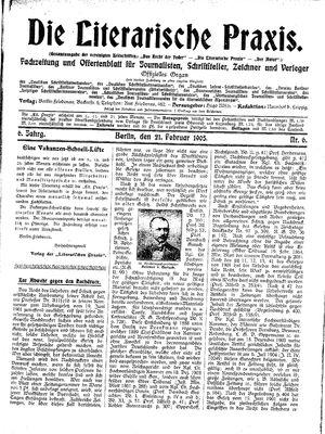 ˜Dieœ literarische Praxis vom 21.02.1905