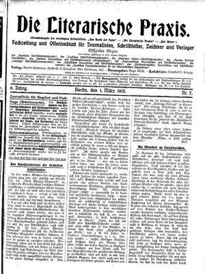 ˜Dieœ literarische Praxis vom 01.03.1905